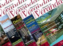 Direction artistique et mise en page d'un magazine spécialisé dans les vérandas
