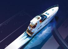 Habillage de façade et plaquette pour une entreprise de yachting