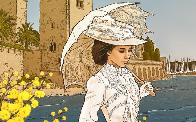 illustration pour la fête du mimosa
